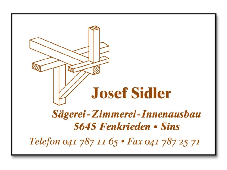 Sidler Josef