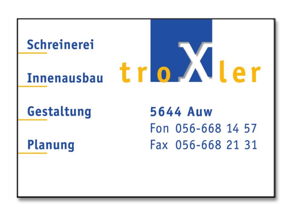 Troxler Schreinerei + Innenausbau GmbH